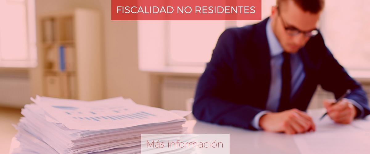 Fiscalidad para no residentes
